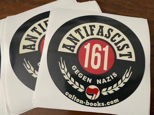 ANTIFASCIST 161 GEGEN NAZIS VINYL STICKERS
