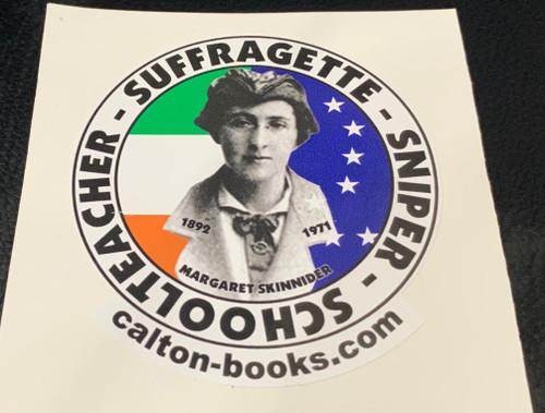 Schoolteacher - Sufragette - Sniper  Margaret Skinnider 20 vinyl stickers