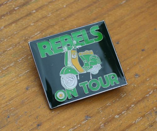 Rebels on tour enamel badge