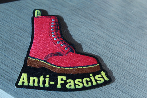 Anti-Fascist Doc boot Iron-on Patch