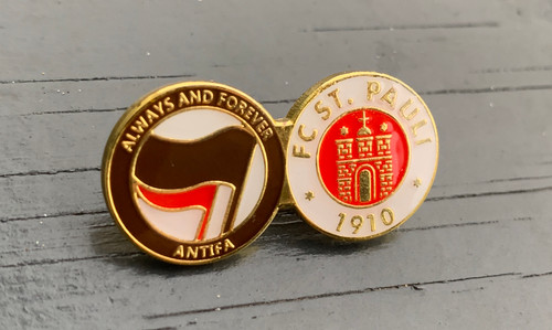 St. Pauli Always and forever ANTIFA enamel badge