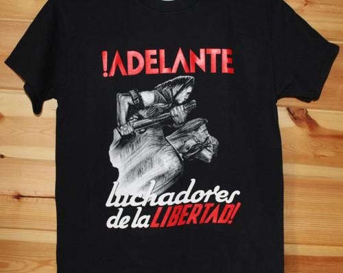 Reproduction of an historic Spanish civil war poster !ADELANTE  luchadores de la libertad!