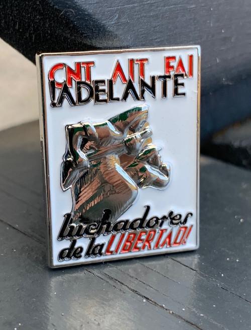 !ADELANTE LUCHADORES DE LA LIBERTAD! 3d enamel badge