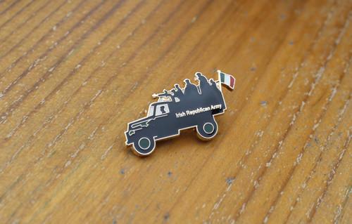 Lorry load of Volunteers enamel badge with brooch fixing.