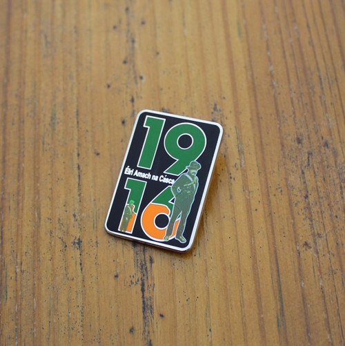 1916 enamel badge inspired by our t-shirt of the same design. Size 32 mm