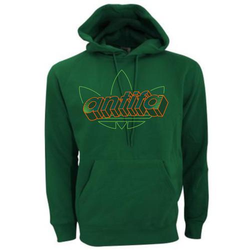 ANTIFA neon 3D Green hoody