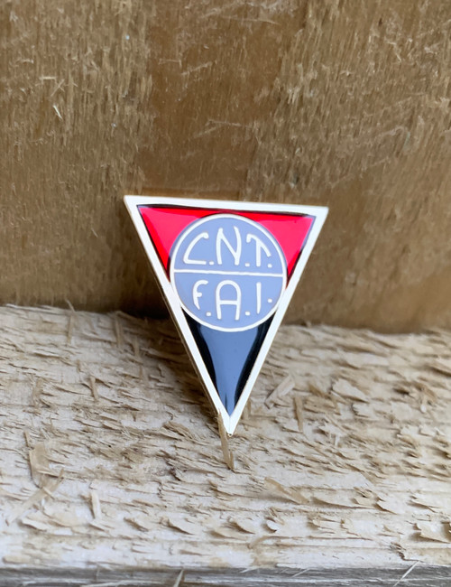 CNT FAI triangle reproduction enamel badge 28 mm