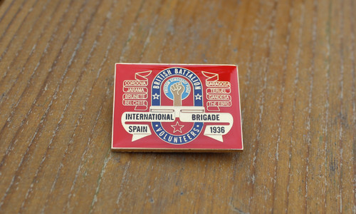 BRITISH BATTALION INTERNATIONAL BRIGADE ENAMEL BADGE/PIN