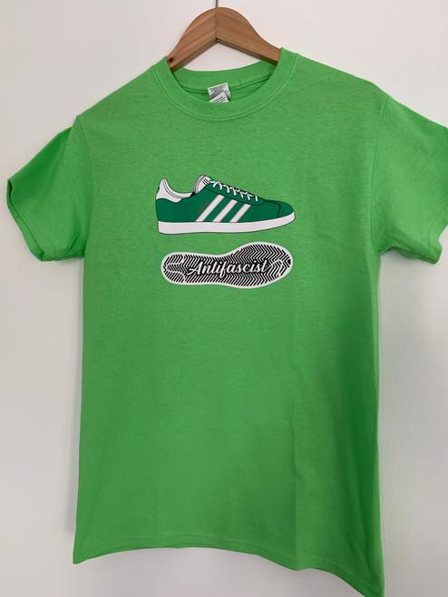 Lime green Gazelle green/white t-shirt