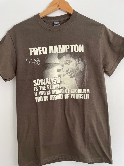 Fred Hampton - Socialism is the people olive t-shirt