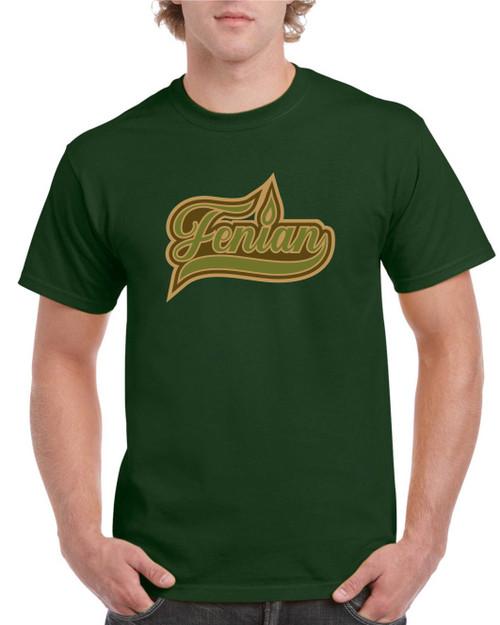 FENIAN bottle green t-shirt