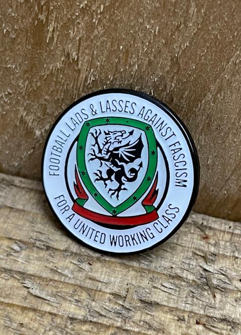 Cymru Wales Football Lads & Lasses enamel badge