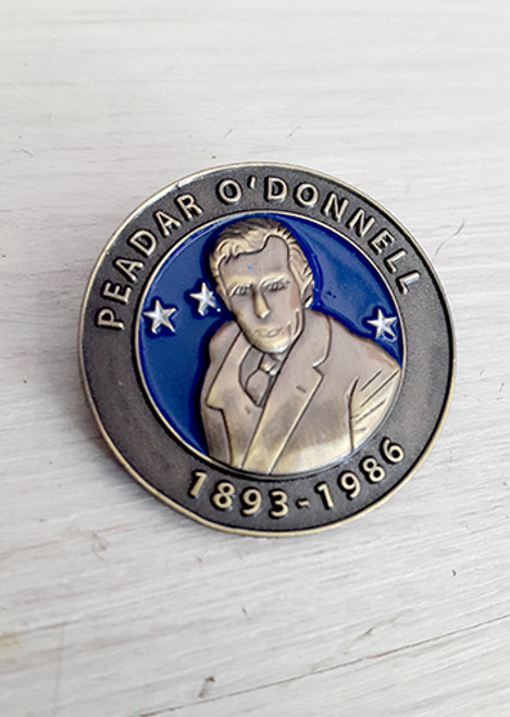 Peadar O'Donnell Irish Republican Socialist 3D badge