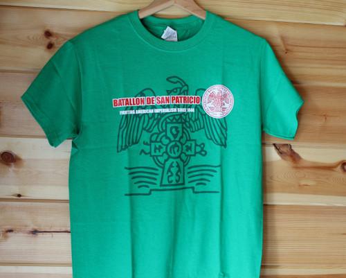San Patricio Battallon three colour hand screen printed t-shirt