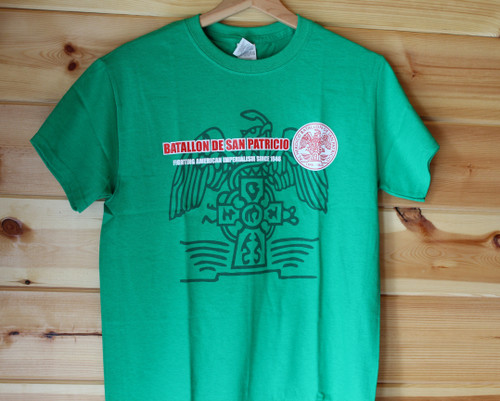 San Patricio Battallon three colour hand screen printed t-shirt