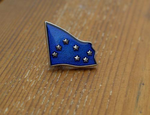 Starry plough enamel badge