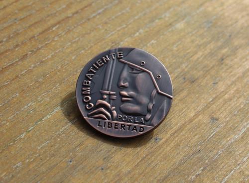 COMBATIENTE POR LA LIBERTAD 3D BADGE/PIN