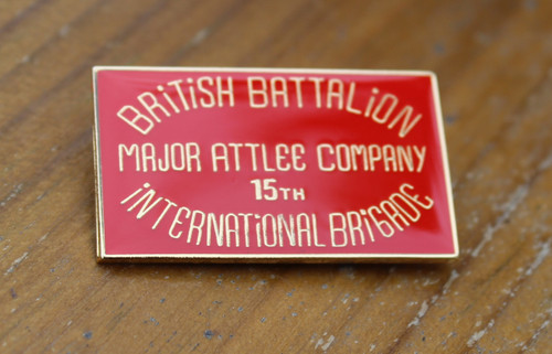 Major Attlee Company British Battalion 15th International Brigade enamel badge