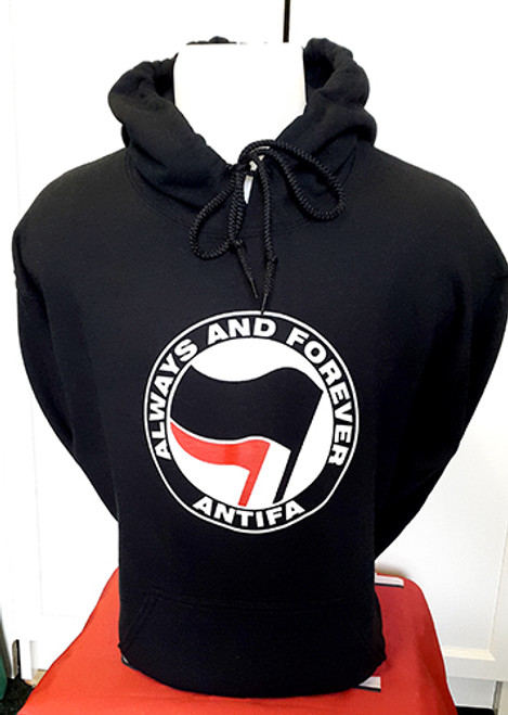 ANTIFA - Always and Forever - Anti-Fascist Hoody (black)