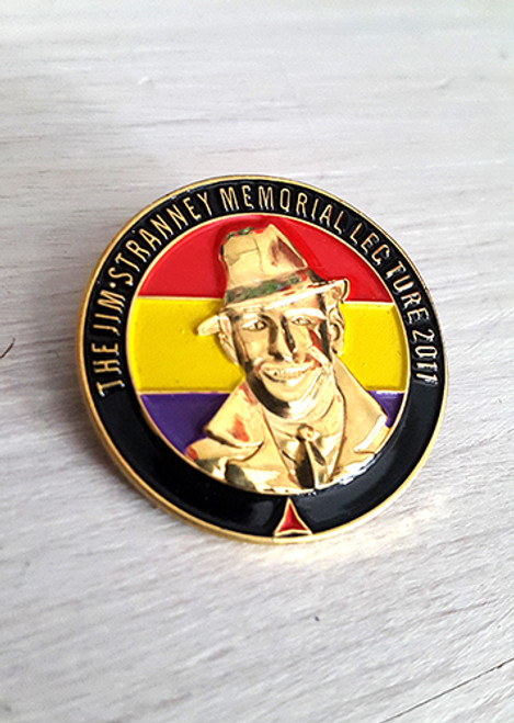 JIM STRANNEY, INTERNATIONAL BRIGADE 3D BADGE/PIN