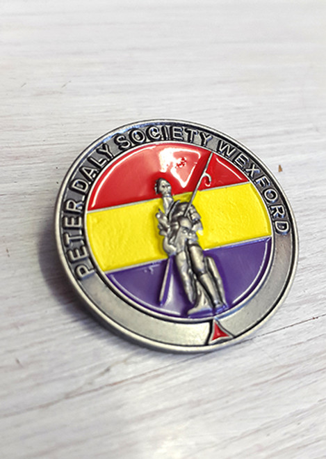 PETER DALY SOCIETY WEXFORD (INTERNATIONAL BRIGADE) 3D BADGE/PIN