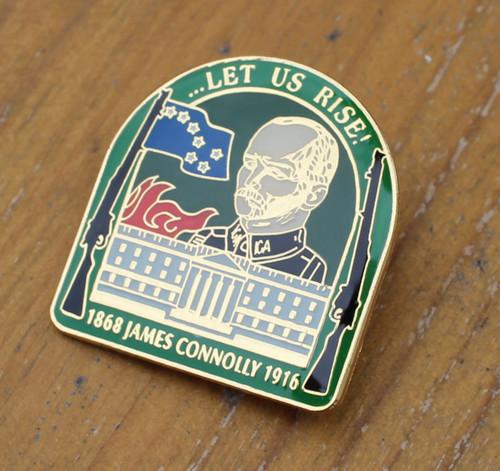 James Connolly ...Let Us rise! enamel badge