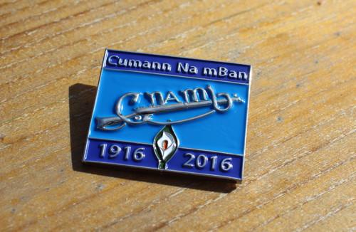 Cumann na mBan 3D enamel Easter Rising Centenary badge