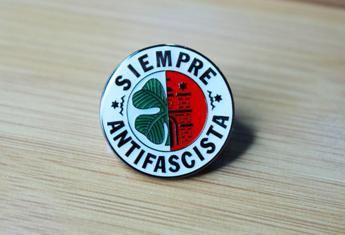 SIEMPRE ANTIFASCISTA enamel badge