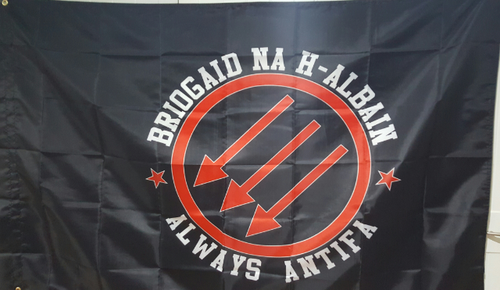 Briogaid Na H-Alabain  ALWAYS ANTIFA flag
