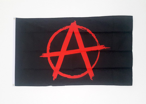 Anarchy/Anarchist polyester flag size 5 x 3