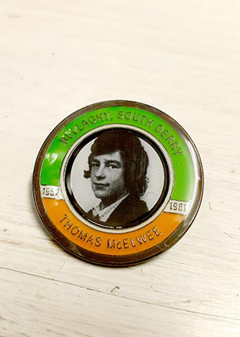 Thomas McElwee Hunger Striker Commemorative Badge