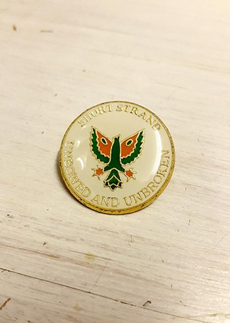 Phoenix Short Strand - Unbowed & Unbroken Enamel Badge