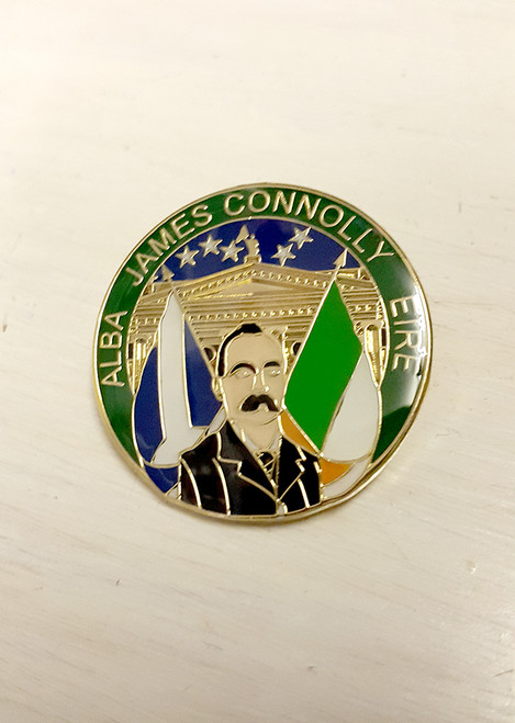 James Connolly ALBA EIRE enamel badge