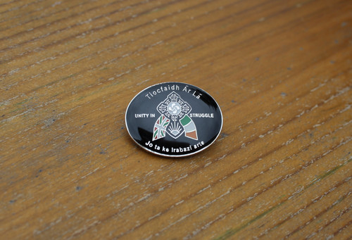 Irish Basque unity in struggle enamel badge
