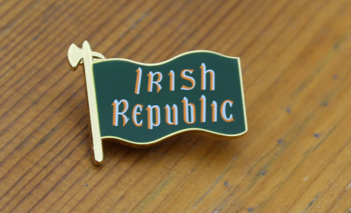 Irish Republic flag metal badge