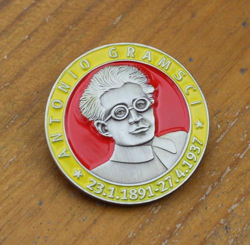 ANTONIO GRAMSCI 3D enamel badge