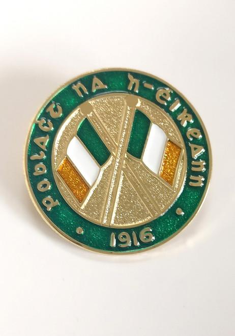 Poblact na h-eireann - 1916 Tricolour Enamel Badge