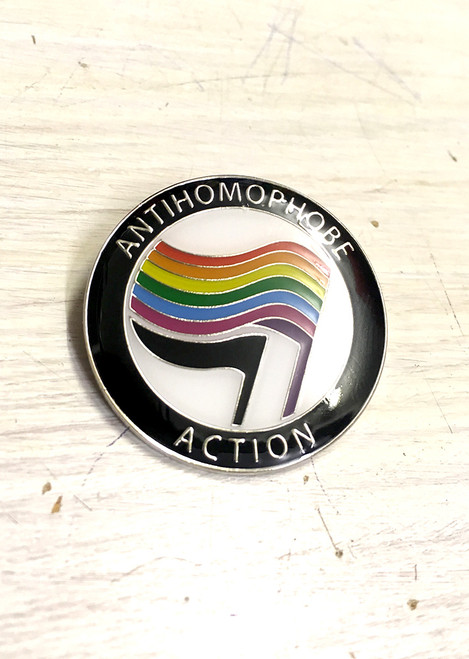 Anti-Homophobe Action enamel Badge