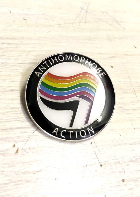 Anti-Homophobe Action enamel Badge