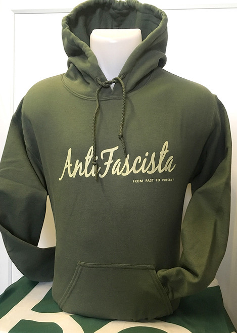 Antifascista 'from Past to Present' Military Green Hoody