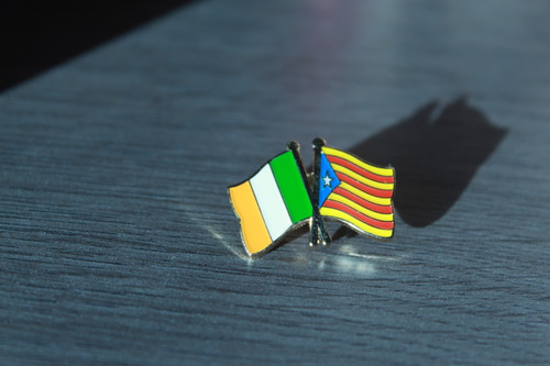 Irish Solidarity with Catalonia Badge