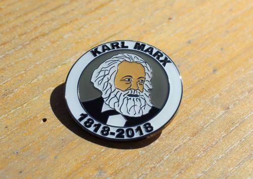 Karl Marx 1818-2018 enamel Badge
