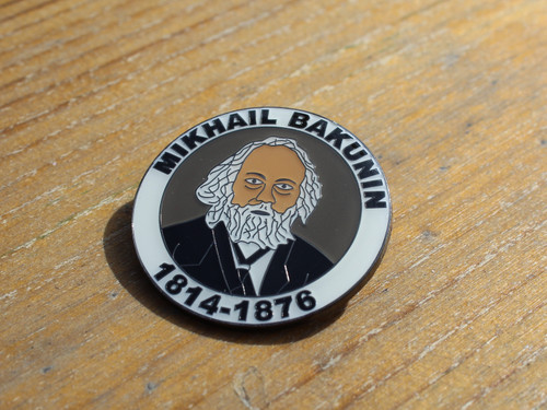 Mikhail Bakunin enamel badge 32 mm