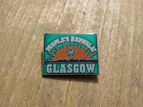 People's Republic of Glasgow (GREEN) enamel badge