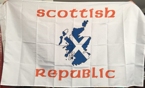 Scottish Republic 5 x 3 flag with two sleeves.