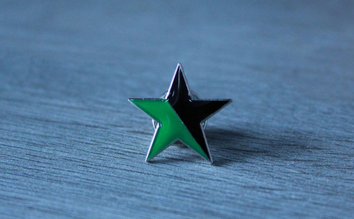 Black and Green Star (Eco-Anarchist) enamel badge