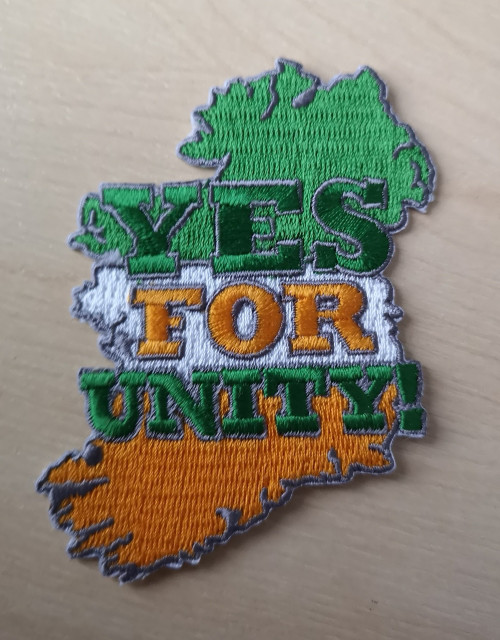 Yes For Unity  Iron on embroidered patch