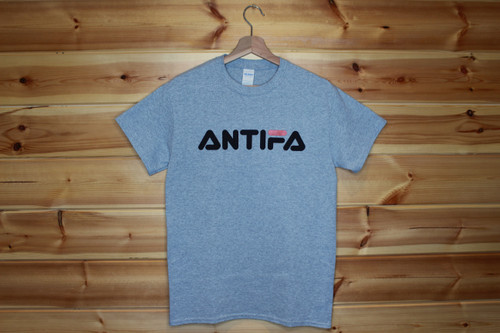 ANTIFA retro sport grey t-shirt