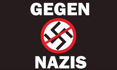 GEGEN NAZIS 5 X 3 flag