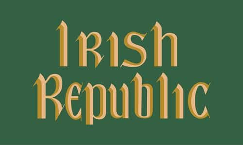 Reproduction Irish Republic 8 feet x 5 feet flag.